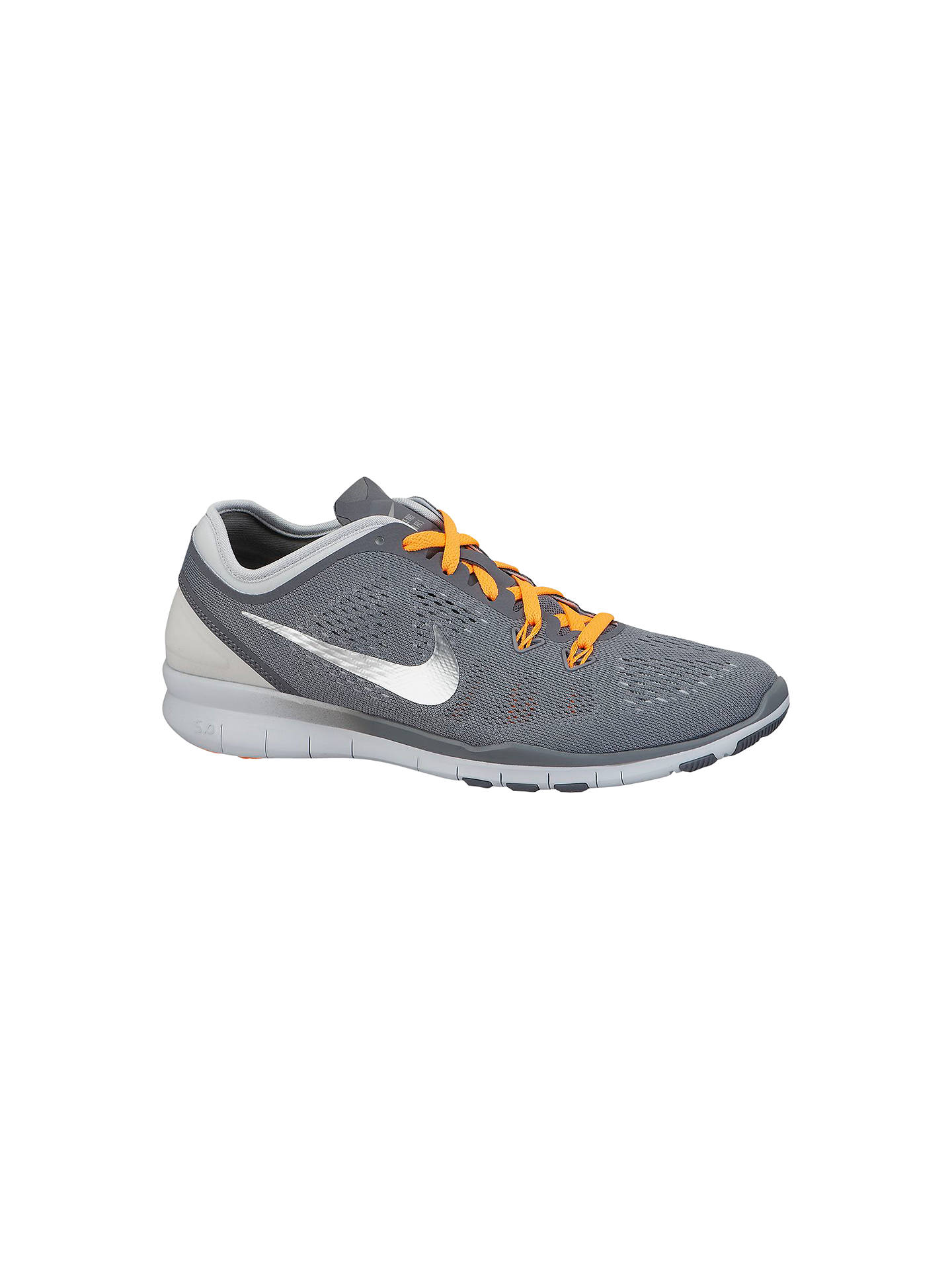 los angeles 395b1 9857a Buy Nike Free 5.0 Women s Running Shoes, Grey, 4 Online at johnlewis. ...