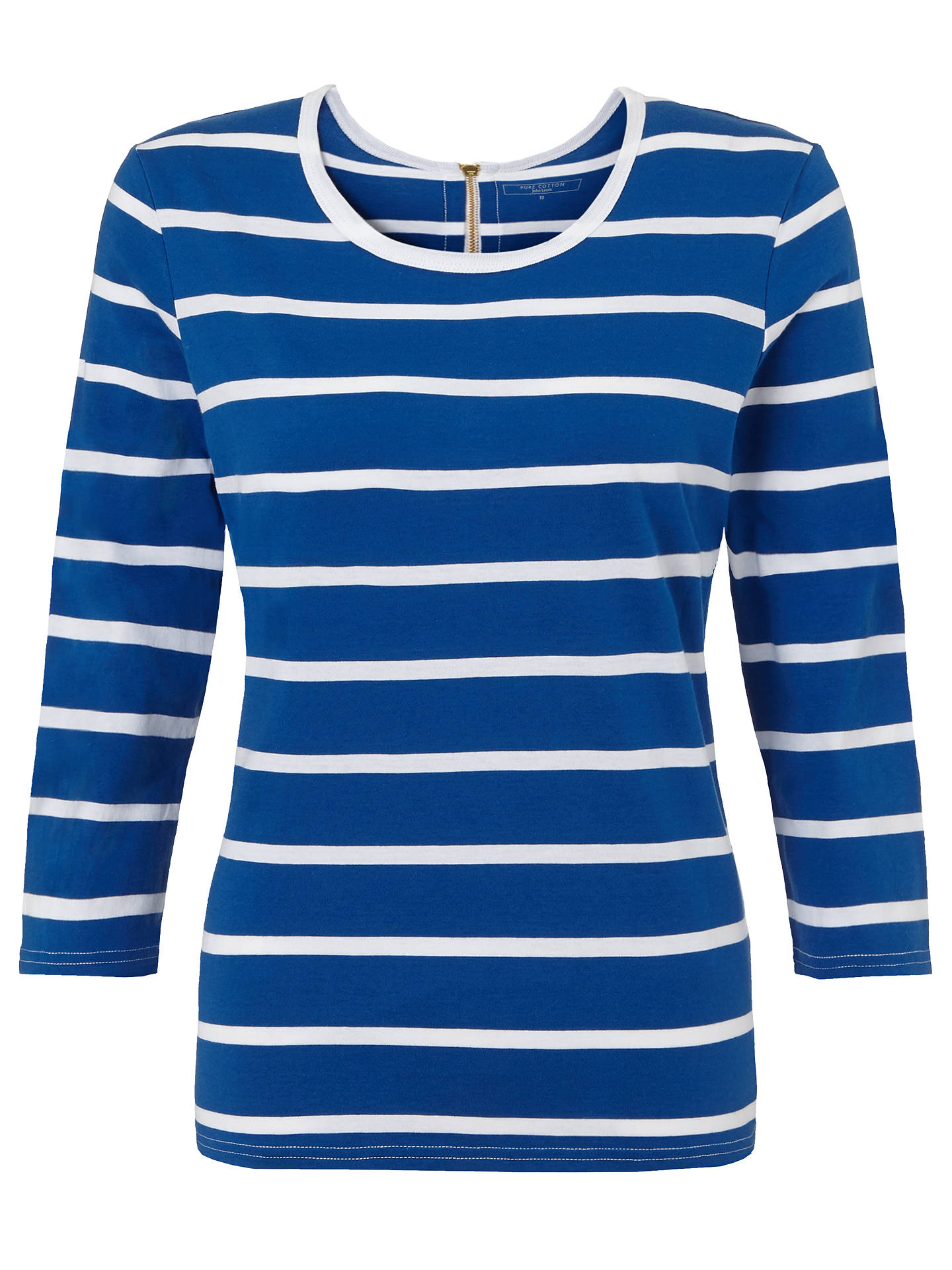 ff5c166b38b John Lewis Zip Back Stripe Top at John Lewis   Partners