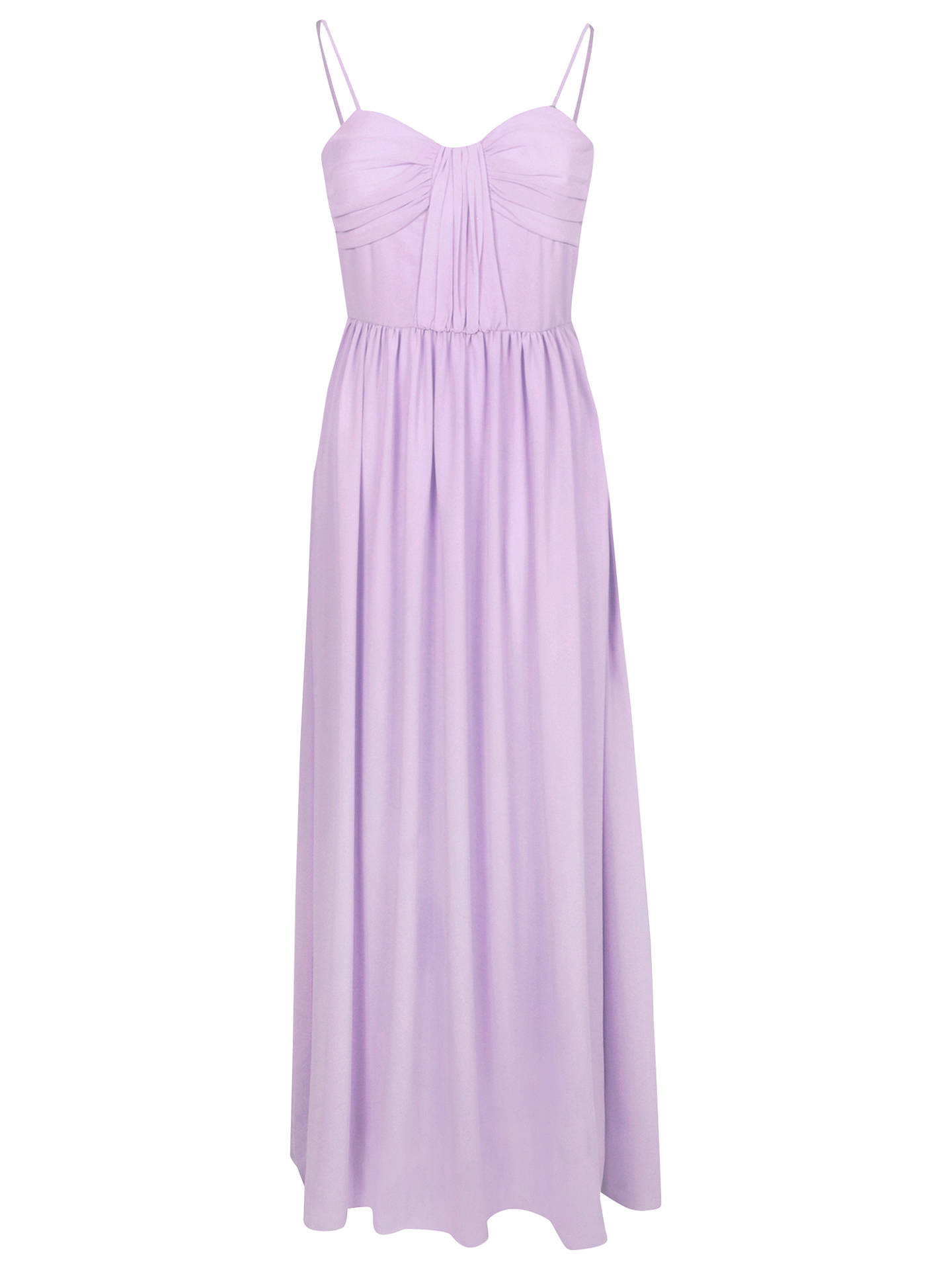 Buy True Decadence Bow Pleat Maxi Dress, Light Pink, 16 Online at johnlewis.com