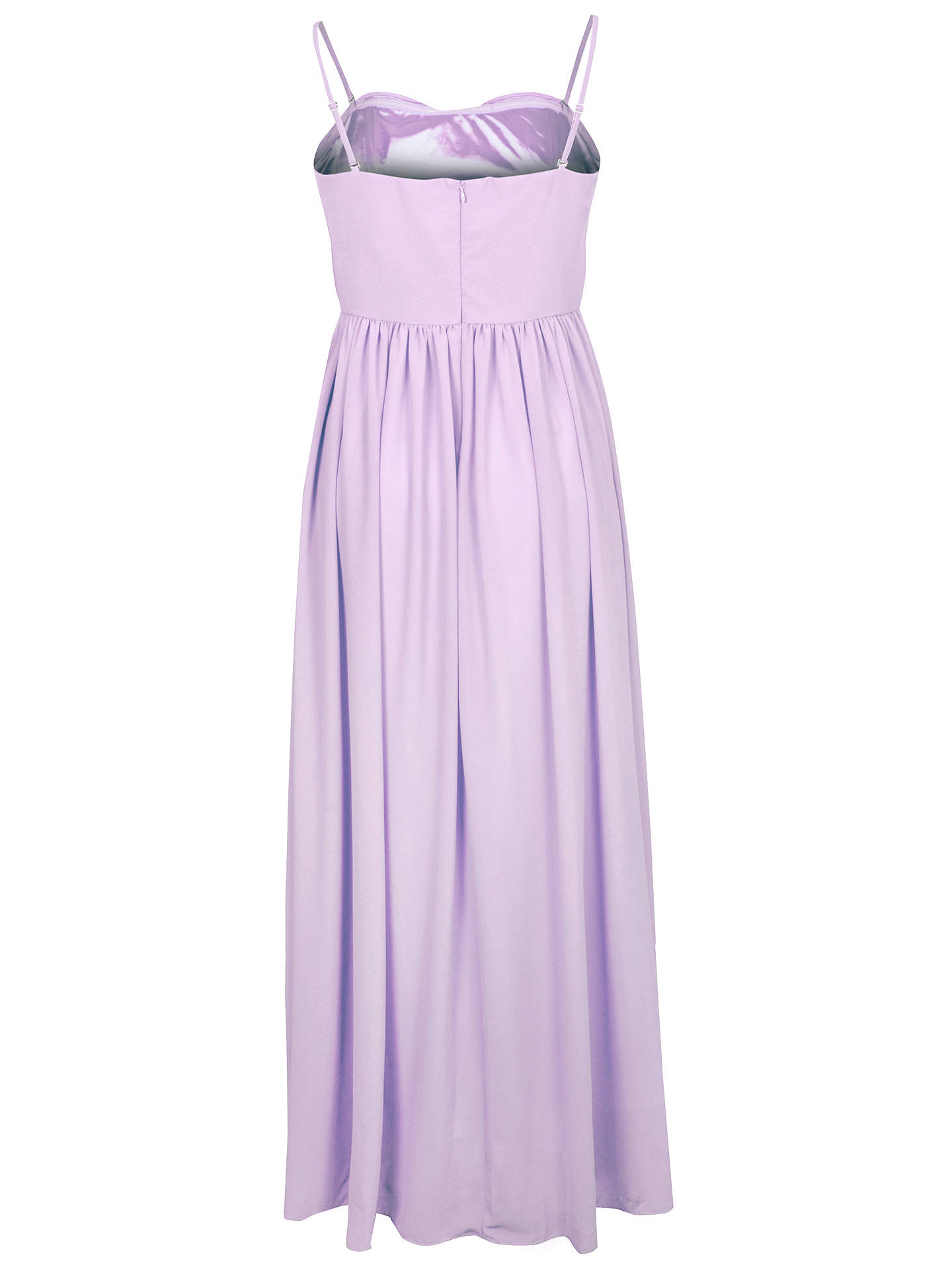 Buy True Decadence Bow Pleat Maxi Dress, Light Pink, 8 Online at johnlewis.com