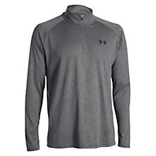 Buy Under Armour Quarter Zip Running Top, Carbon Heather Online at johnlewis.com