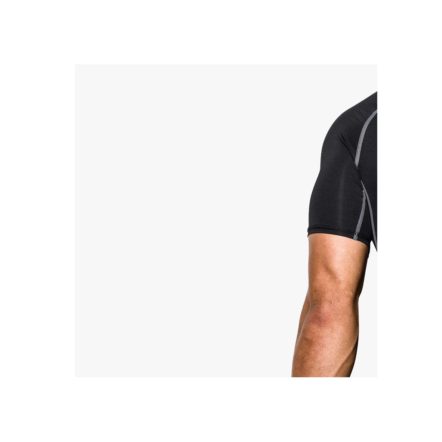 BuyUnder Armour Heat Gear T-Shirt, Black, S Online at johnlewis.com