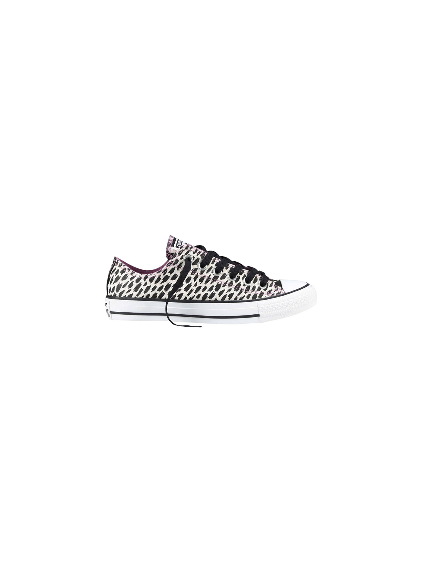 7804d258221059 Converse Chuck Taylor All Star Ox Canvas Animal Print Trainers ...