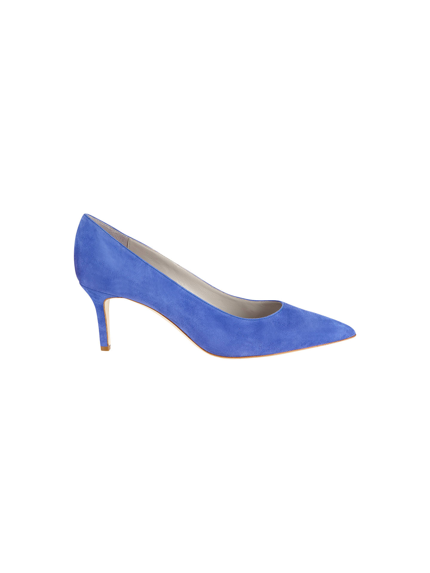 fafe111166 Buy Jigsaw Milly Suede Court Shoes, Bright Blue, 3 Online at johnlewis.com  ...
