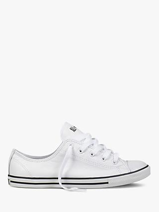 Converse Chuck Taylor All Star Women's Dainty Leather Trainers, White