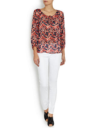 Buy AG The Prima Mid Rise Skinny Jeans, White, 25 Online at johnlewis.com