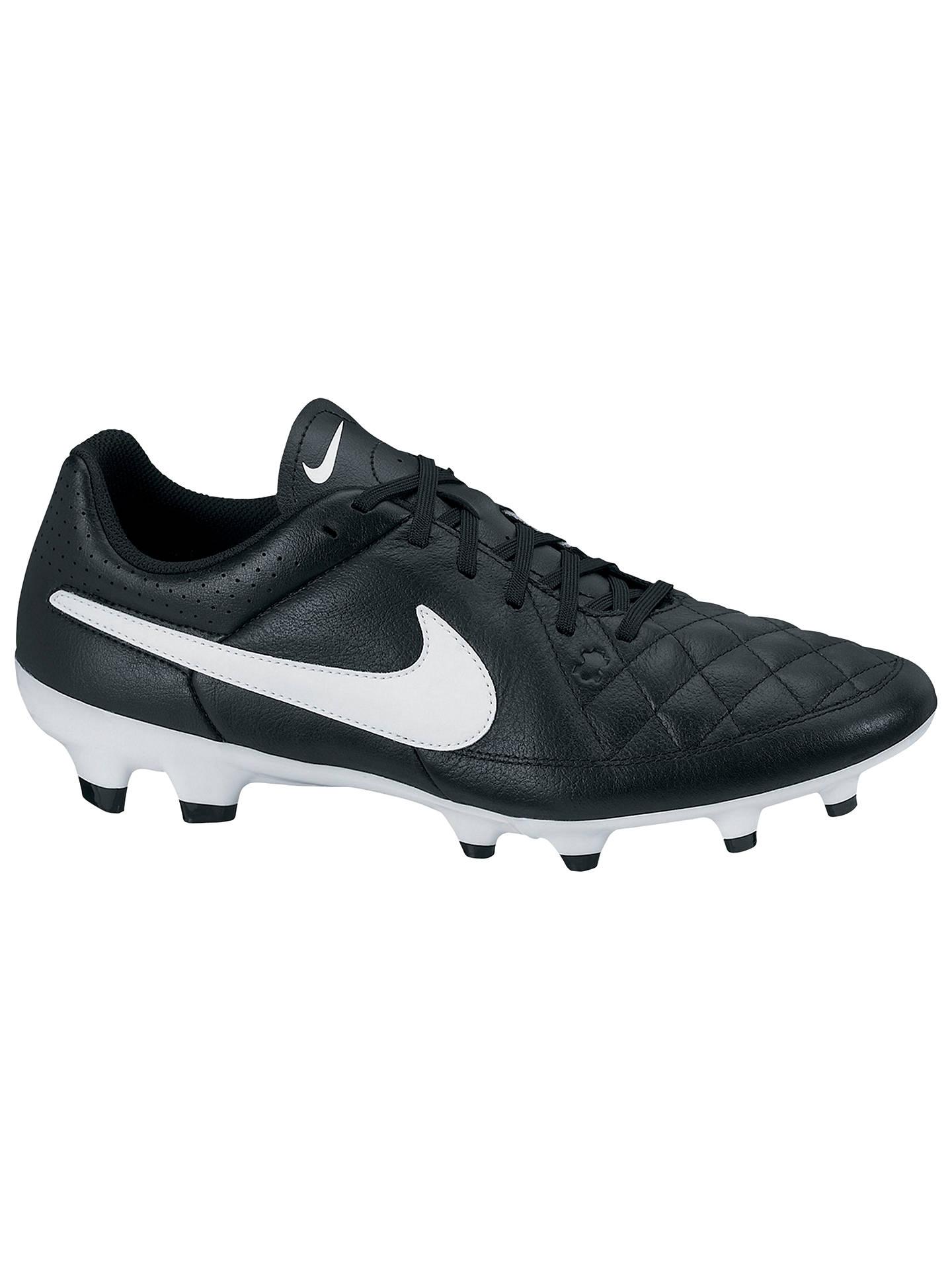 watch d4ed1 5e8f3 Nike Tiempo Genio Leather Men's FG Football Boots, Black ...