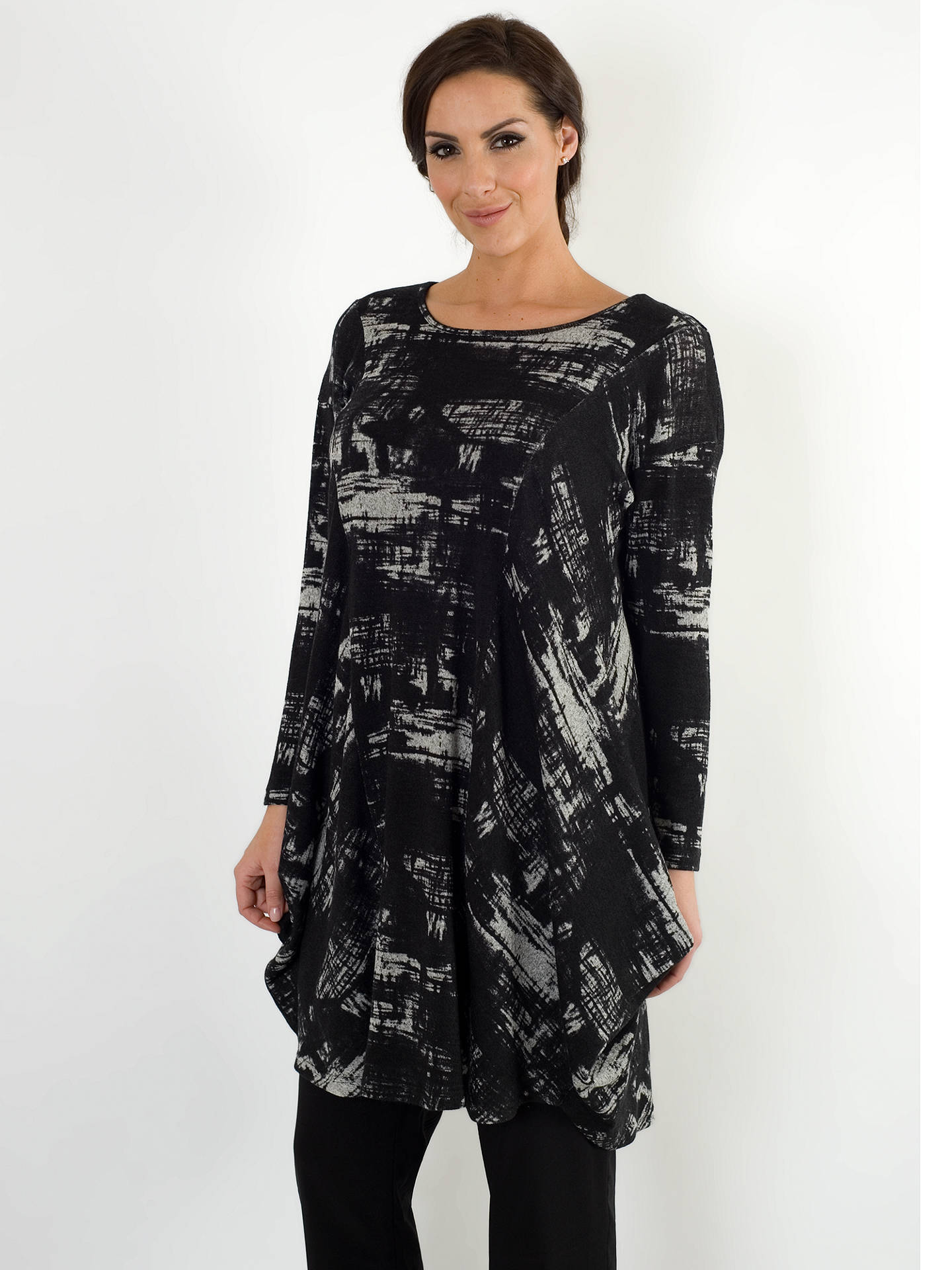 BuyChesca Printed Tunic Dress, Black/Grey, 12-14 Online at johnlewis.com