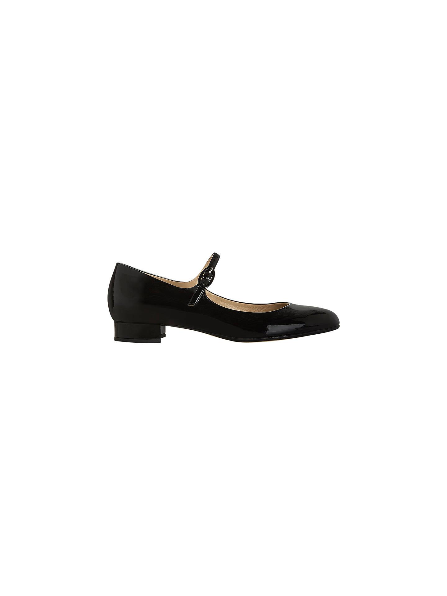e113fa1c666dc Hobbs Tess Patent Mary-Jane Shoes, Black at John Lewis & Partners