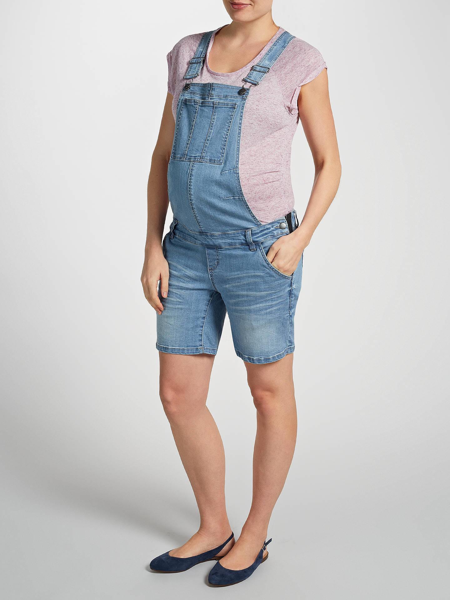 1c33c985aa8d3 ... Buy Mamalicious Alice Dungaree Maternity Shorts, Denim Blue, 26R Online  at johnlewis.com ...