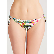 Buy John Lewis Hawaii Floral Side Tie Bikini Briefs, White / Multi Online at johnlewis.com