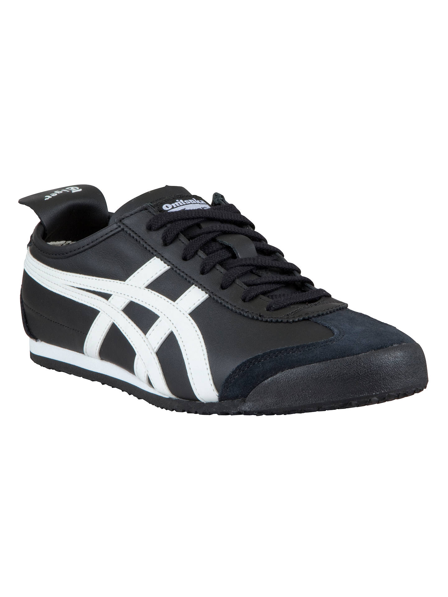 timeless design 133a2 6a735 Onitsuka Tiger Mexico 66 Men's Trainers, Black/White at John ...