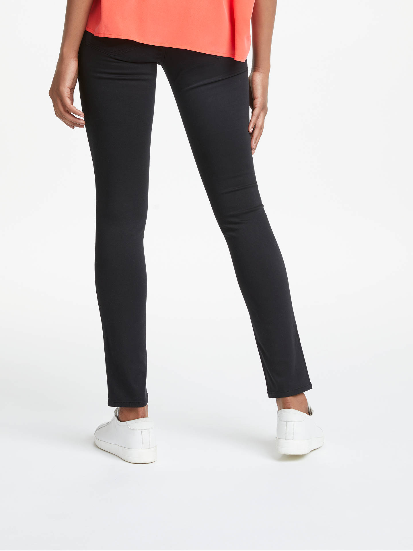BuyAG The Prima Mid Skinny Jeans, Super Black, 25 Online at johnlewis.com