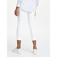 Buy AG The Stilt Roll Up Mid Rise Jeans, White Online at johnlewis.com