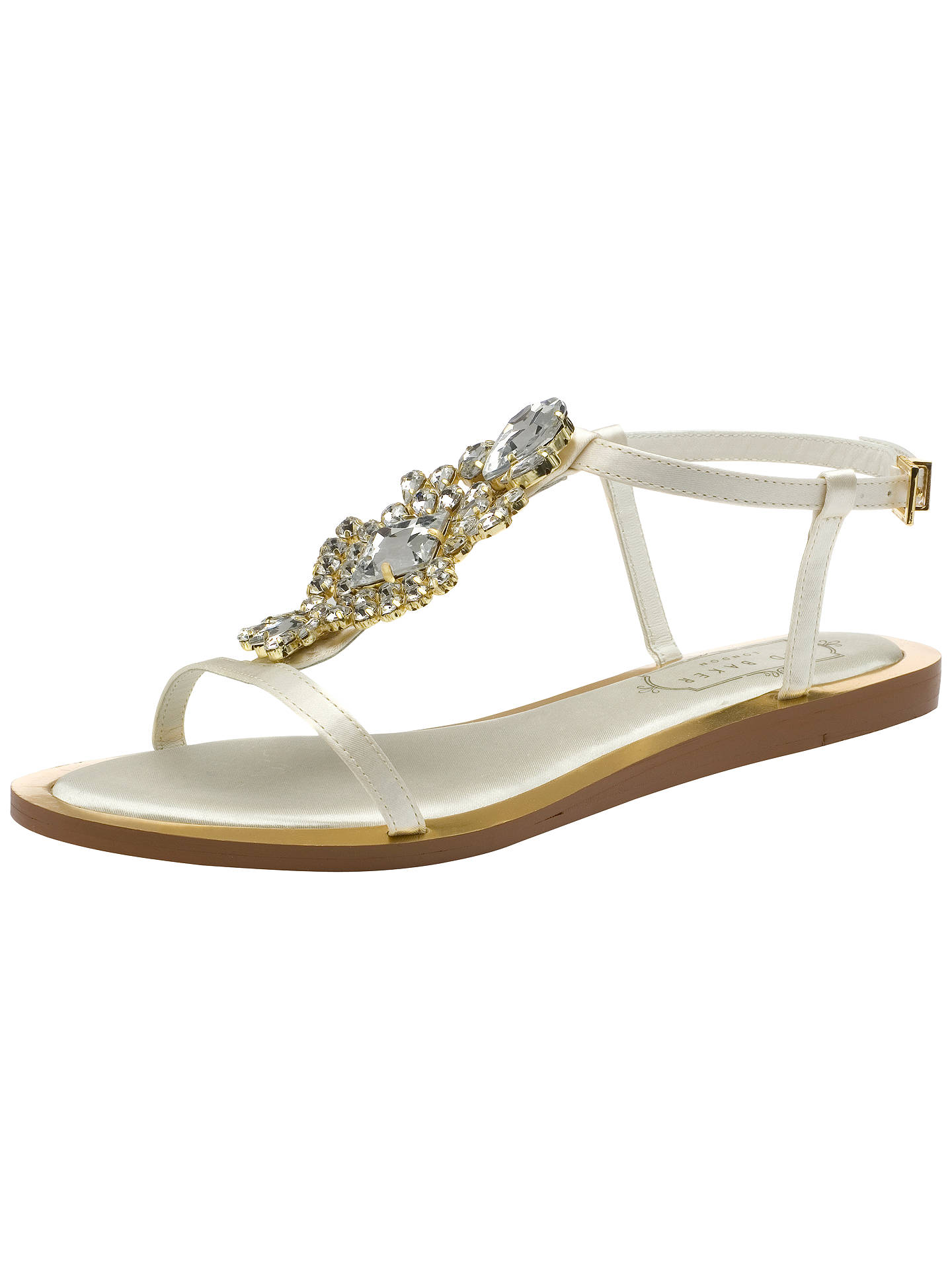 4de16a2a6 Buy Ted Baker Tie the Knot Roseupe Jewelled Sandals