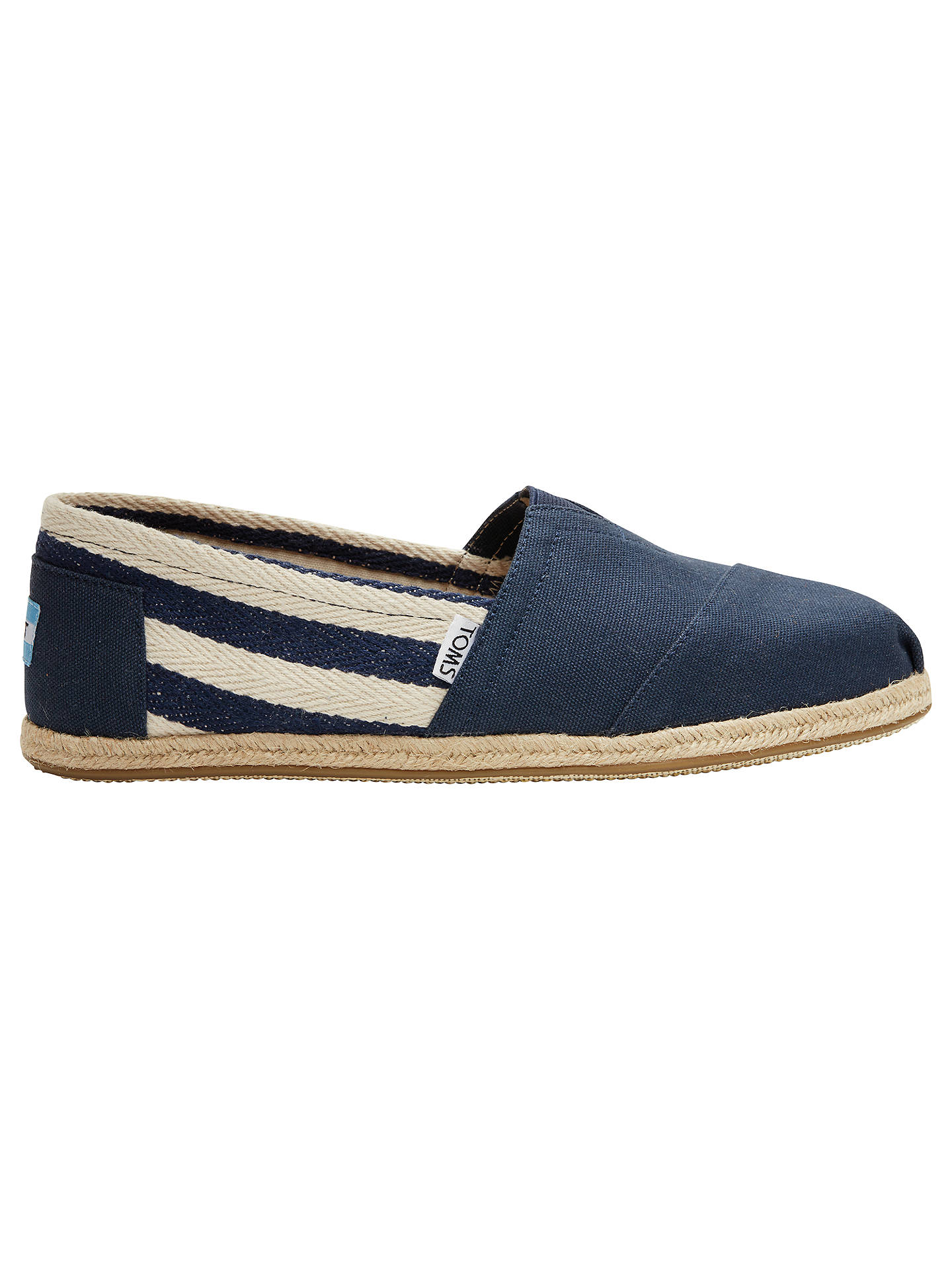 32660da807e Buy TOMS Classic Rope Sole University Espadrilles, Navy, 7 Online at  johnlewis.com ...