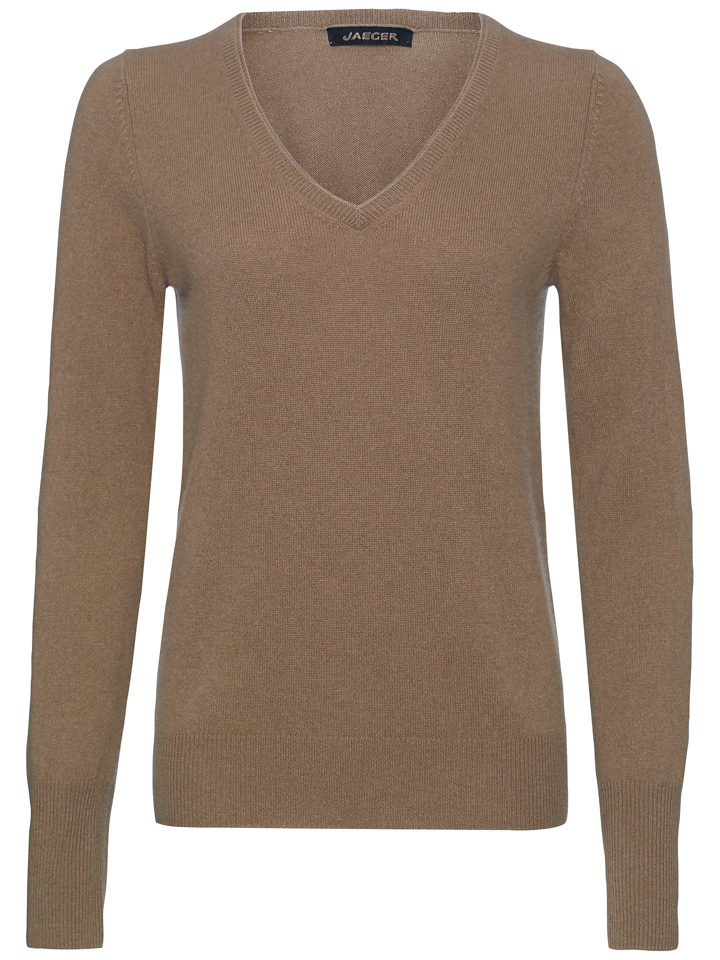 Jaeger Cashmere V Neck Sweater Mole At John Lewis Partners