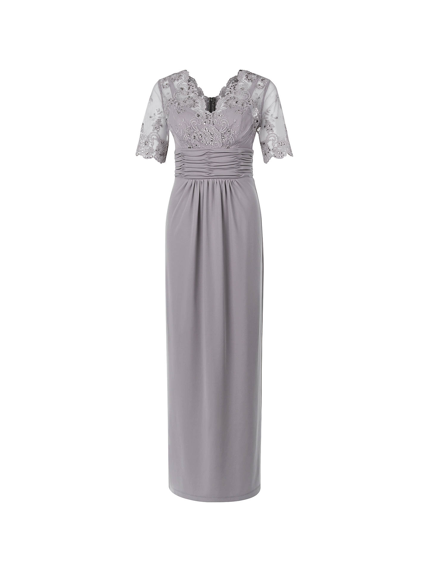 ca5bee0bd8b Buy Jacques Vert Lace Top Maxi Dress, Brown, 8 Online at johnlewis.com ...