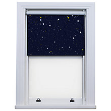 Buy Bloc Fabric Changer Blackout Roller Blind, Blue Night Sky Online at johnlewis.com