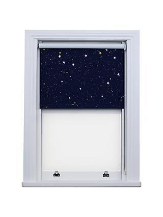 Bloc Fabric Changer Blackout Roller Blind, Blue Night Sky