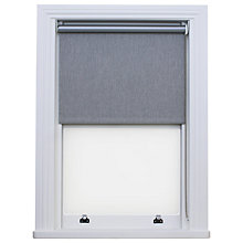 Buy Bloc Fabric Changer Blackout Roller Blind, Brushed Platinum Online at johnlewis.com
