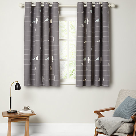 Buy John Lewis Bird On A Wire Lined Eyelet Curtains Online At Johnlewis