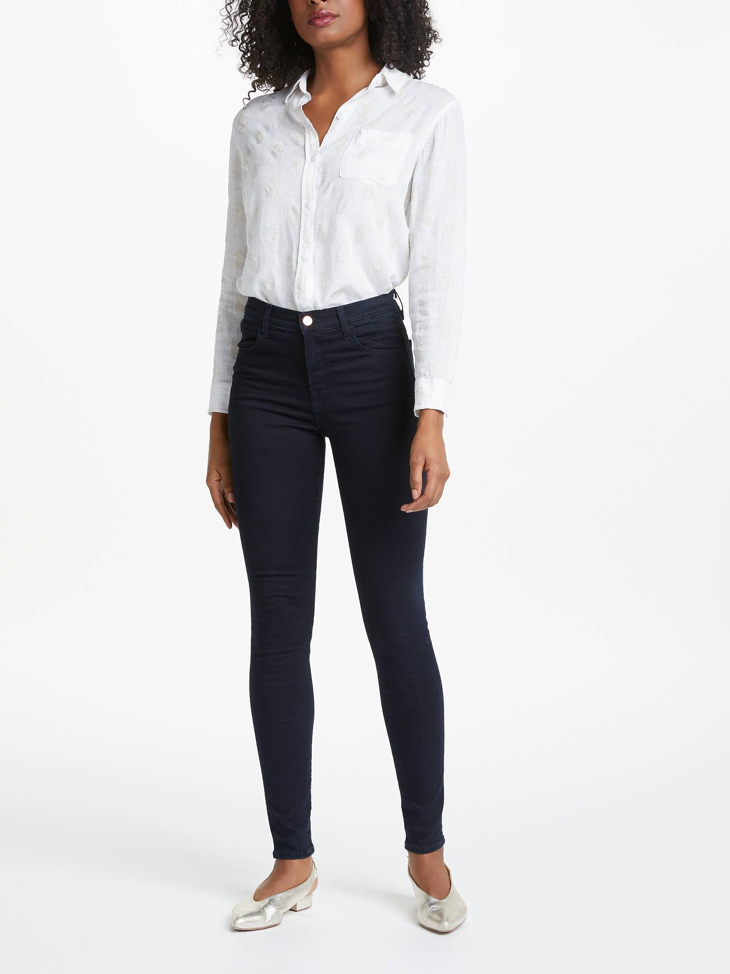 248dd387d101 Buy J Brand Maria High Rise Skinny Jeans, Bluebird, 25 Online at johnlewis.