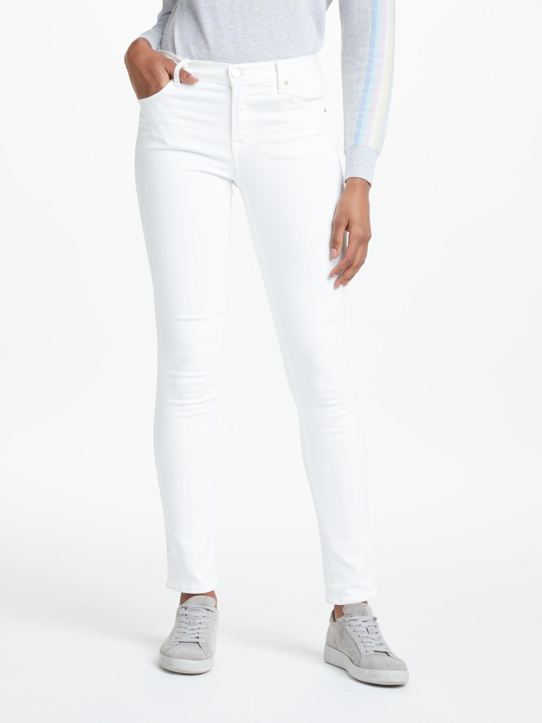 J Brand J Brand 811 Mid Rise Skinny Leg Jeans, Blanc