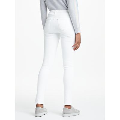 J Brand 811 Mid Rise Skinny Leg Jeans, Blanc