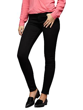 Paige Margot High Rise Ultra Skinny Jeans, Black Shadow