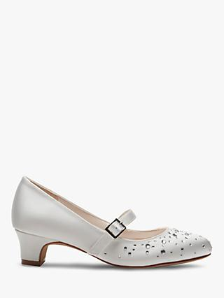 Rainbow Club Cherry Bridesmaid Shoes, White Communion