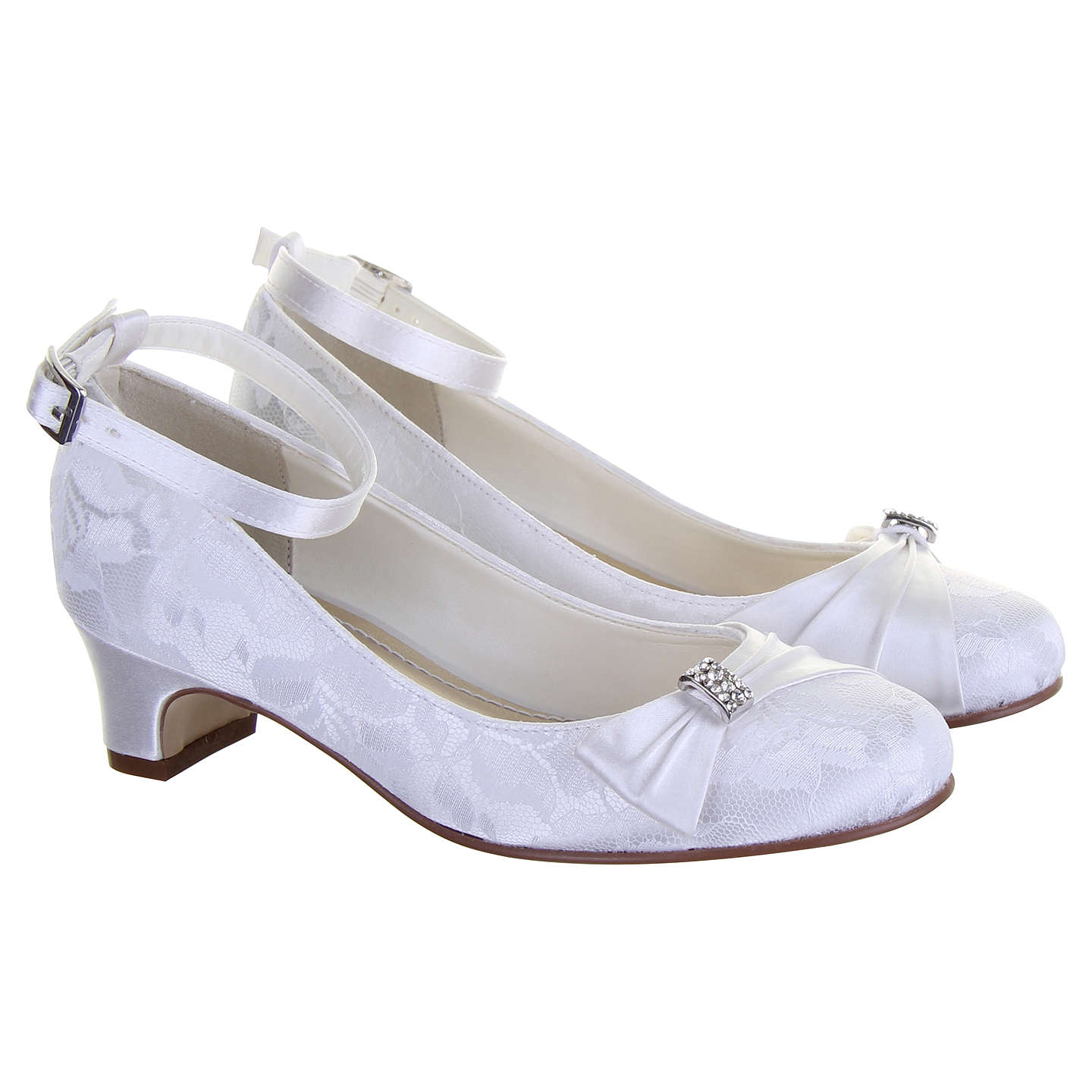 BuyRainbow Club Mint Bridesmaid Shoes, White Communion, 10 Jnr Online at johnlewis.com