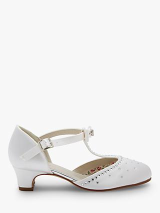 Rainbow Club Lemonade Bridesmaid Shoes, White Communion