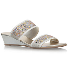 Buy Carvela Comfort Sage Low Heeled Mule Sandals, Taupe Online at johnlewis.com