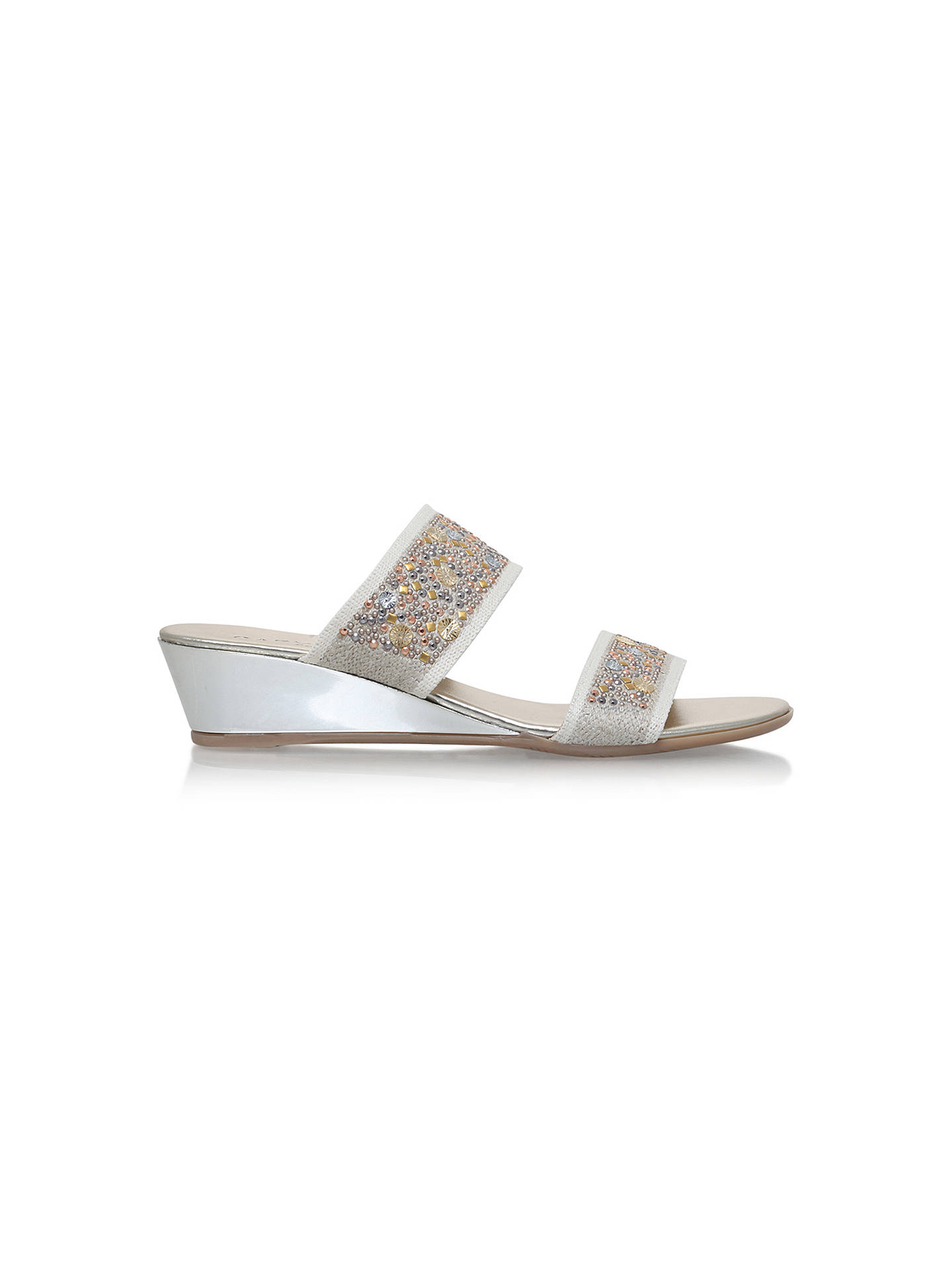 BuyCarvela Sage Low Heel Mule Sandals, Taupe, 3 Online at johnlewis.com