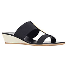 Buy Carvela Comfort Suri Low Wedge Heeled Sandals, Black Online at johnlewis.com