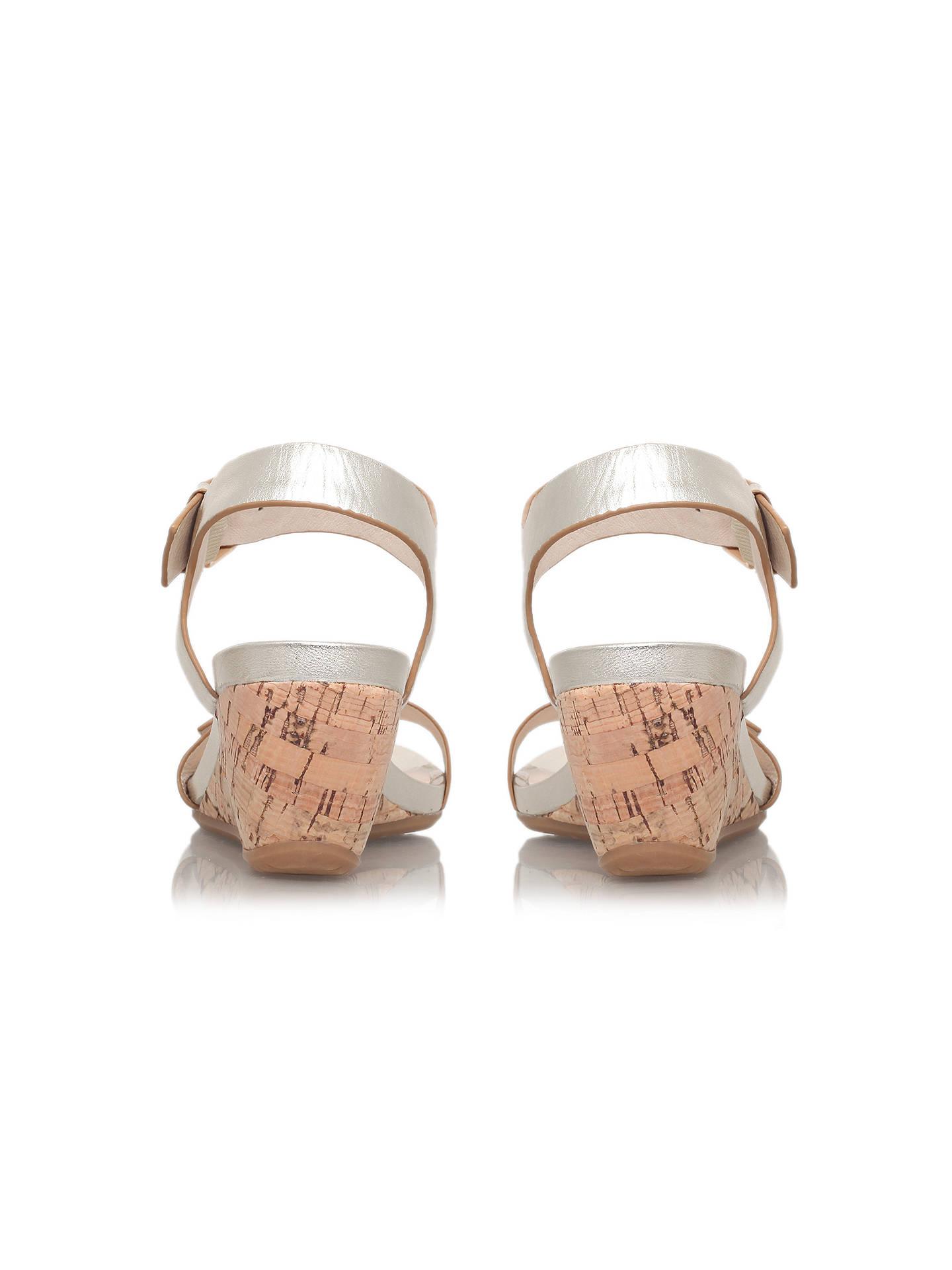a3fe9b89fb Buy Carvela Comfort Splinter Buckle Leather Wedge Sandals, Gold, 3 Online  at johnlewis.