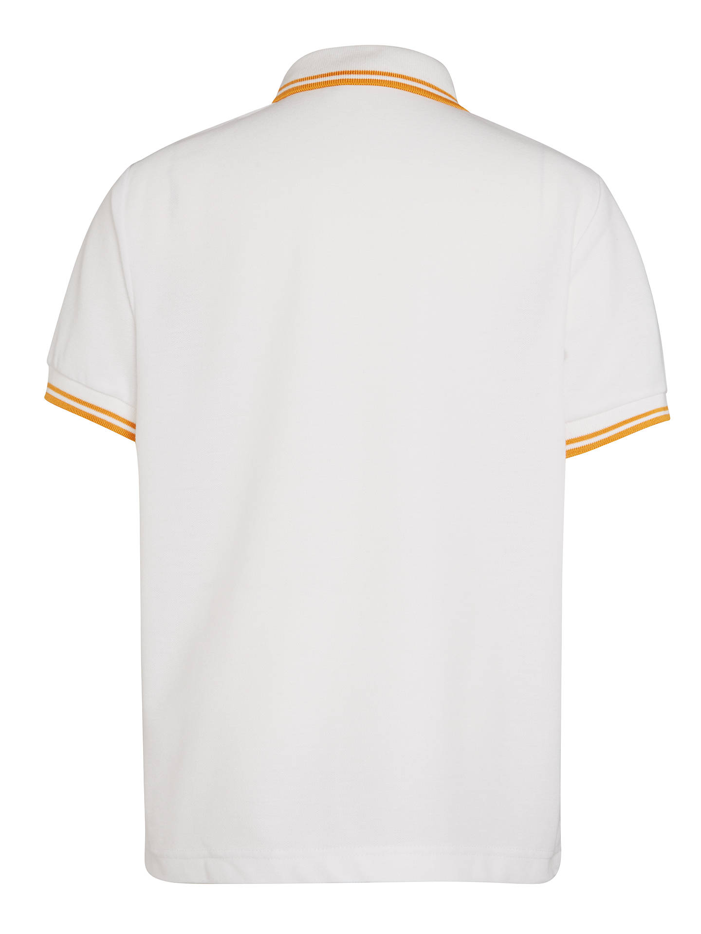 "Buy St John's College St David's House Unisex Polo Shirt, White, Chest 26"" Online at johnlewis.com"