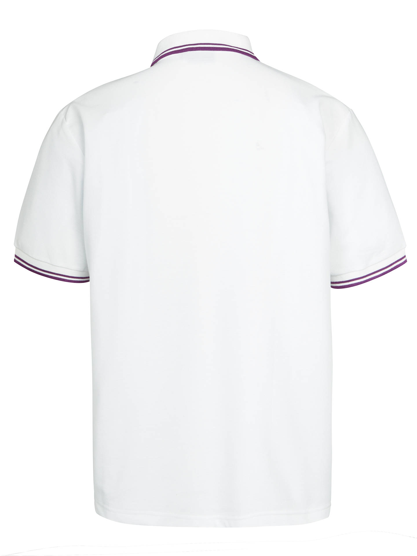 "Buy St John's College Bute House Unisex Polo Shirt, White, Chest 34"" Online at johnlewis.com"