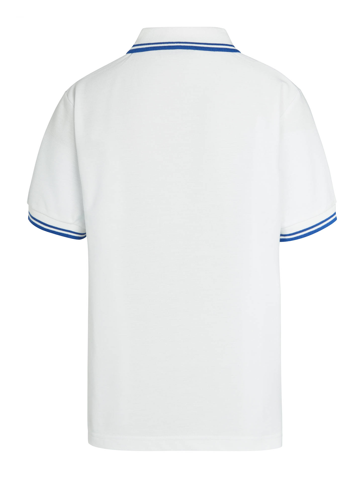"Buy St John's College De La Salle House Unisex Polo Shirt, White, Chest 24"" Online at johnlewis.com"
