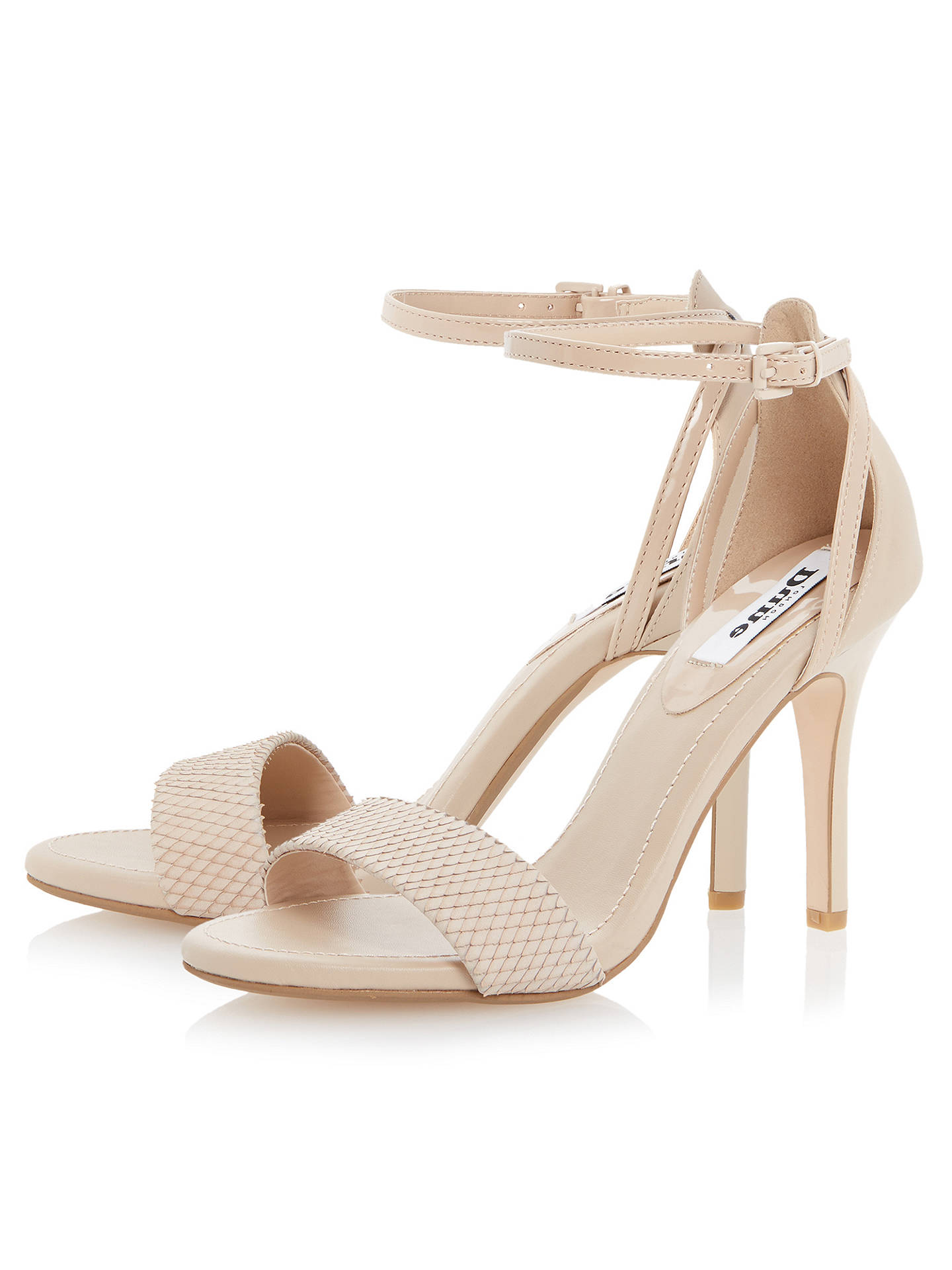 BuyDune Madeira Ankle Strap Sandals, Nude Leather, 3 Online at johnlewis.com