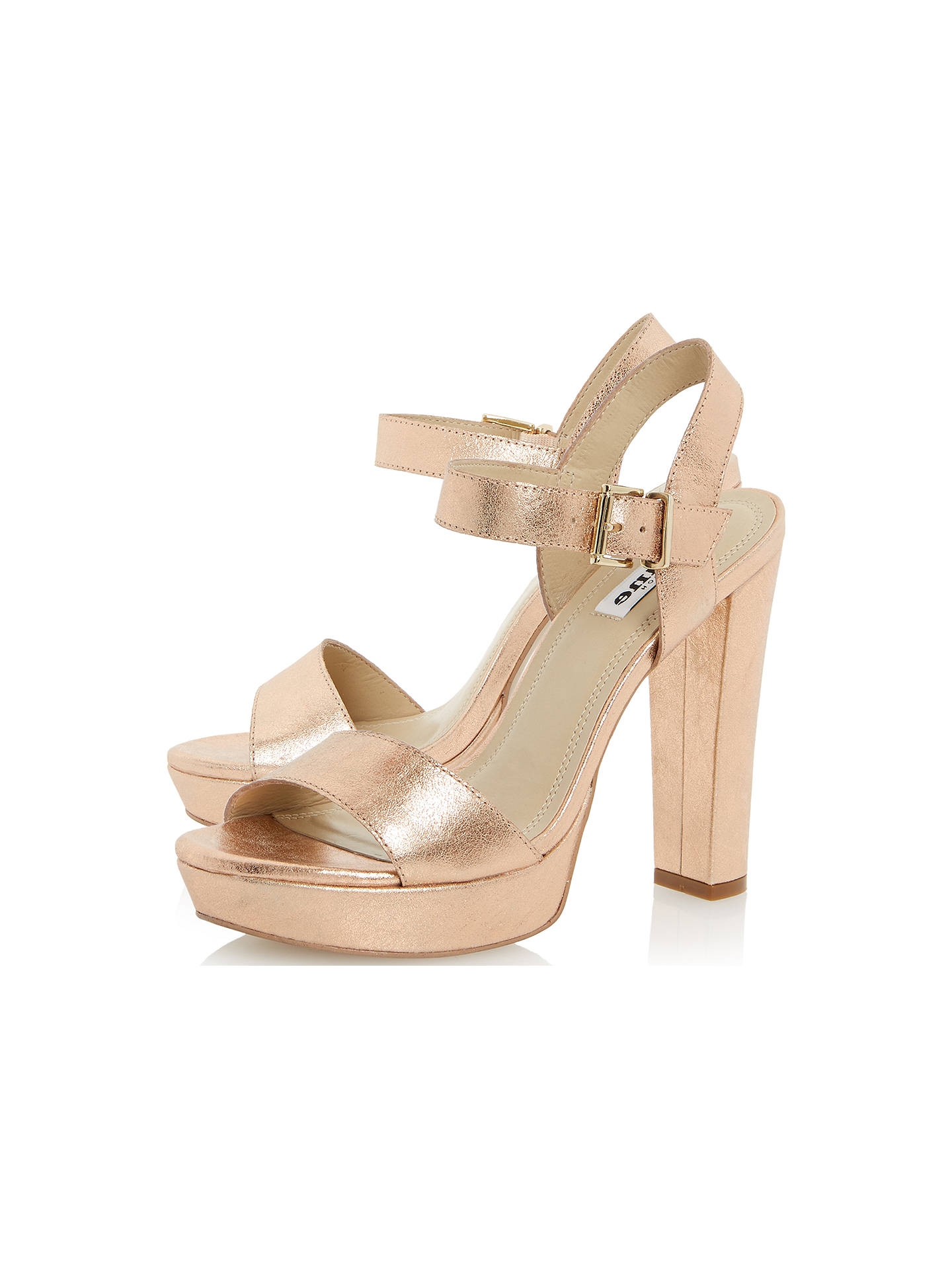 b1f22686f4a Buy Dune Mariella Block Heel Leather Sandals