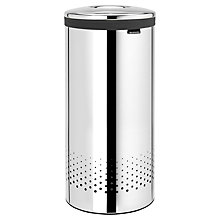 Buy Brabantia Laundry Bin, Brilliant Steel, 30L Online at johnlewis.com