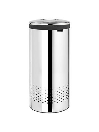Buy Brabantia Laundry Bin, Brilliant Steel, 35L Online at johnlewis.com