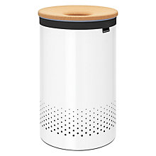Buy Brabantia Cork Lid Laundry Bin, White, 60L Online at johnlewis.com