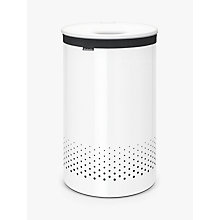 Buy Brabantia Laundry Bin with Plastic Lid, White Online at johnlewis.com