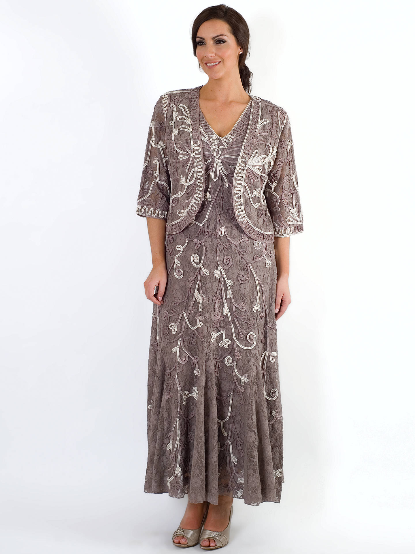 BuyChesca Ombre Cornelli Dress, Mink, 12 Online at johnlewis.com