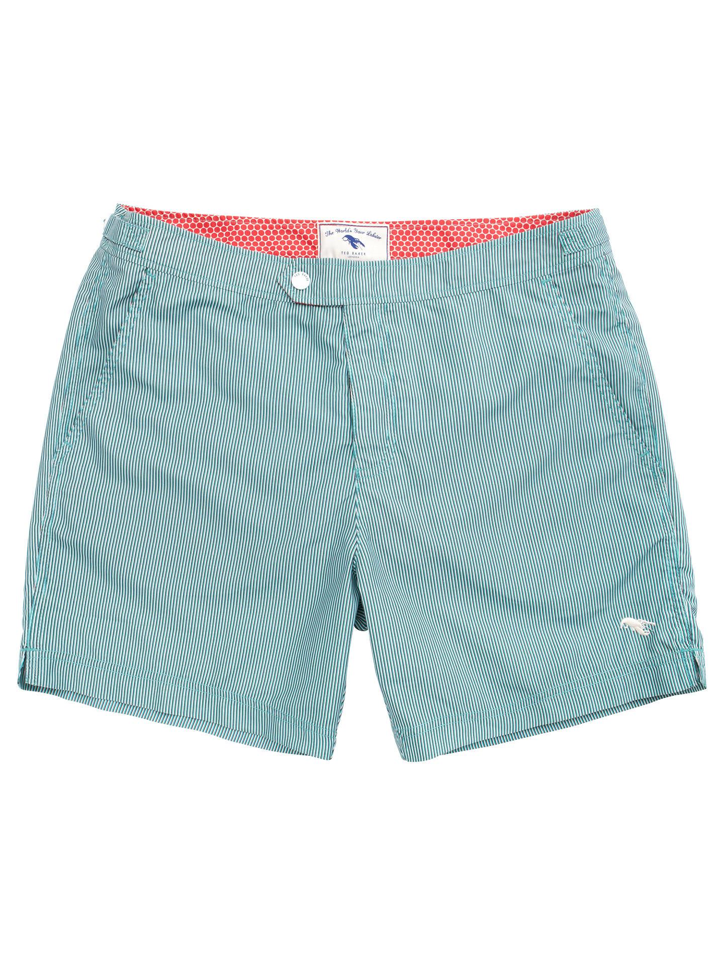 dc287c8d846d Buy Ted Baker Bufpop Pinstripe Swim Shorts, Teal, 2 Online at johnlewis.com