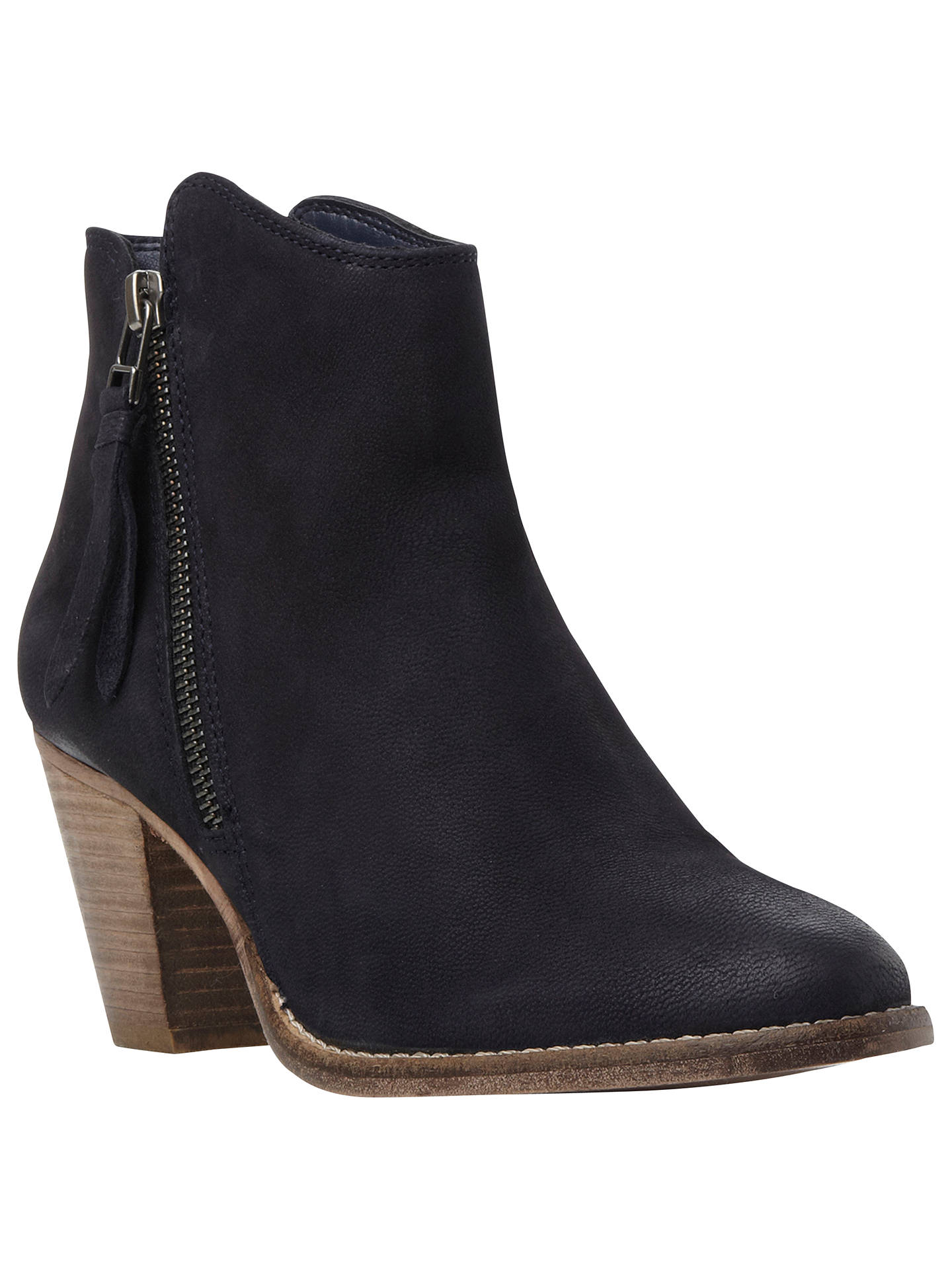 44031627f4f Dune Pollie Leather Western Style Mid Heel Ankle Boots at John Lewis ...
