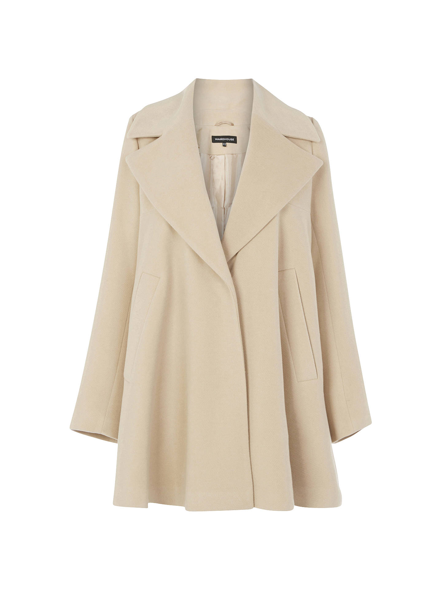 complete in specifications for whole family buy best Warehouse Swing Coat, Camel at John Lewis & Partners